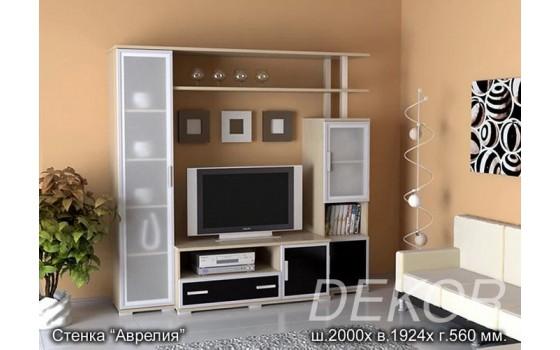 """Набор мебели в гостиную с матовым стеклом """"Аврелия"""""""
