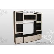 """Набор мебели для гостиной с секцией под тв и тонированным стеклом  """"Дарьяна-1"""""""