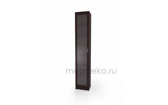 """Книжный шкаф """"Лайн-1 с стеклом"""""""