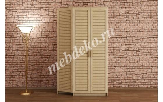 """Шкаф распашной """"Леон-3"""" с наборным фасадом"""