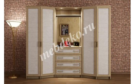 """Шкаф распашной """"Леон-5"""" с наборным фасадом"""