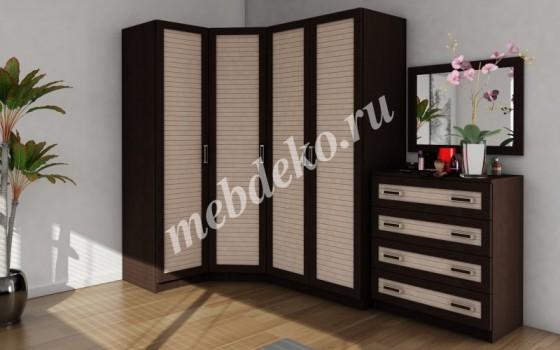 Набор шкафов угловой Меркурий-3 с наборным фасадом