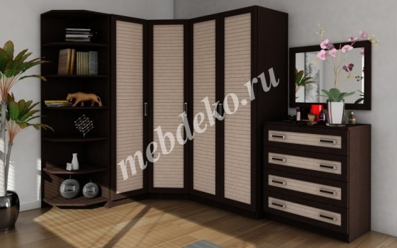 Угловая шкафная группа Меркурий-4 с наборным фасадом