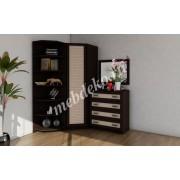 Комплект мебели с угловым шкафом Меркурий-5 с наборным фасадом