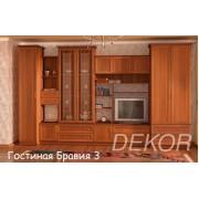 """Мебель в  гостиную со шкафами """"Бравия-3"""""""