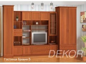 """Мебель для  гостиной со стеклом """"Бравия-5"""""""