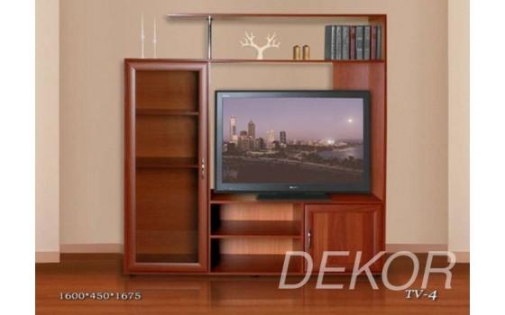 Тумба ТВ-4 со стеклянной дверью и полками