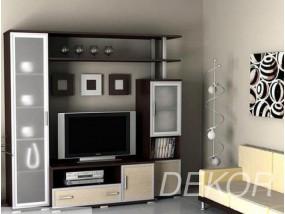 """Набор мебели в гостиную комнату с матовым стеклом и нишей под тв """"Аврелия-1"""""""