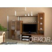 """Набор мебели для гостиной комнаты с прозрачным стеклом """"Аврелия-2"""""""