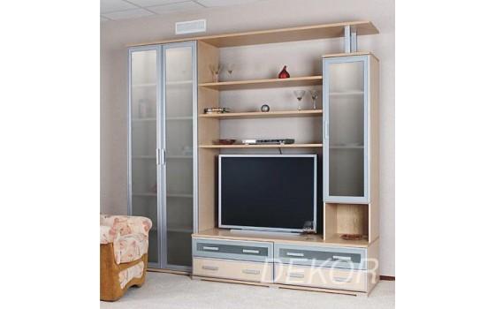 """Набор мебели для гостиной комнаты с нишей под тв и выдвижными ящиками """"Аврелия-3"""""""