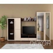 """Стенка для гостиной комнаты со стеклом и нишей под телевизор """"Борнео-8"""""""