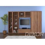 """Набор мебели в гостиную с прозрачным стеклом и нишей """"Борнео-9"""""""