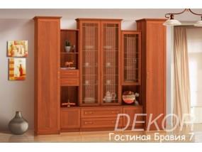 """Комплект мебели в гостиную со шкафом под посуду """"Бравия-7"""""""