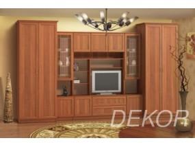 """Комплект мебели для гостиной со стеклом и платяным шкафом """"Бравия-9"""""""