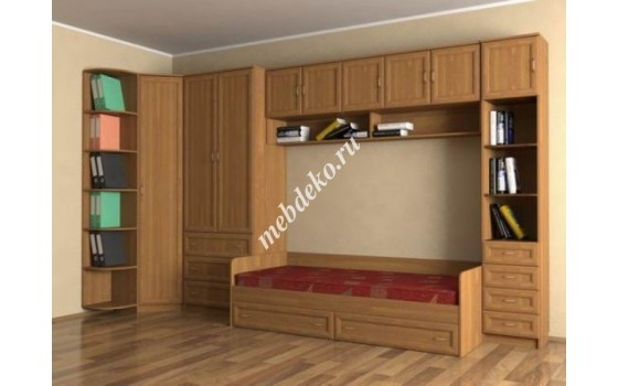 """Стенка в детскую комнату """"Эсфирь-3"""" с кроватью"""