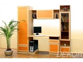 """Детская стенка с 2 шкафами, антресолью и компьютерным столом """"Бэмби-2"""""""