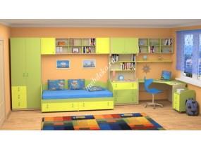 """Набор мебели для детской комнаты с кроватью и шкафом с комодом """"Белоснежка-7"""""""