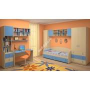 """Мебель в детскую с кроватью и шкафом для белья """"Белоснежка-8"""""""
