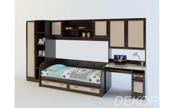 """Детская стенка со спальным местом, шкафом, компьютерным столом и полками  """"Белоснежка-2 ВМ"""""""