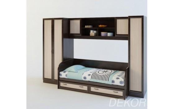 """Детская стенка с 2 шкафами, спальным местом и антресолью  """"Белоснежка-3 ВМ"""""""