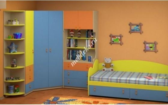 """Детская стенка """"Белоснежка-9"""" с кроватью угловая"""