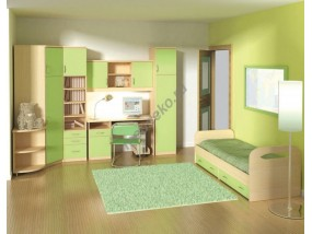"""Мебель в детскую комнату с кроватью и платяным угловым шкафом """"Маркиза-2"""""""