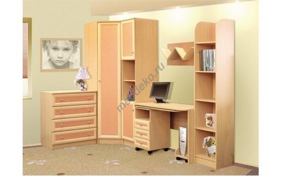 """Мебель для детской с угловым платяным шкафом и компьютерным столом """"Пятёрочка-2"""""""