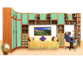 """Комплект мебели для детской с двустворчатым шкафом и кроватью """"Щелкунчик"""""""