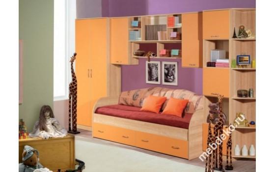 """Детская  """"Спринт"""" со спальным местом и шкафом"""