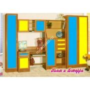 """Мебель в детскую с бельевым шкафом и столом """"Том и Джери"""""""
