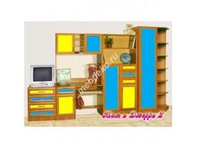 """Мебель в детскую комнату со шкафом для книг """"Том и Джери-2"""""""