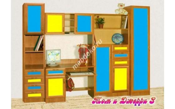 """Мебель для детской со столом и шкафами  """"Том и Джери-3"""""""