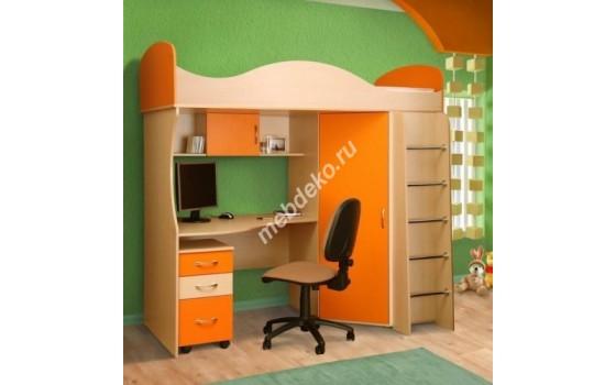"""Комплект мебели в детскую с кроватью и угловым шкафом """"Волна"""""""