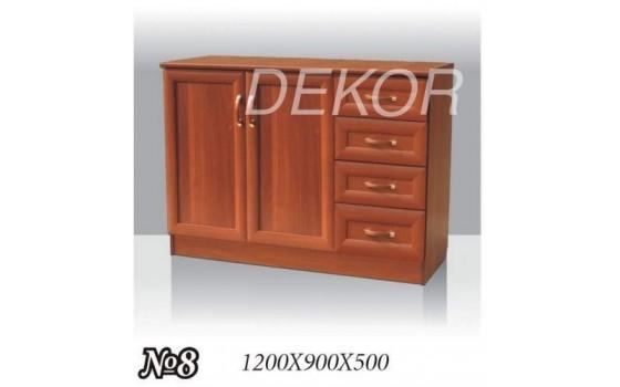 Комод №8 с распашным шкафчиком и выдвижными ящиками