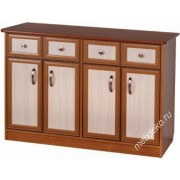 """Широкий комод """"Логос-4"""" с двумя распашными шкафчиками"""