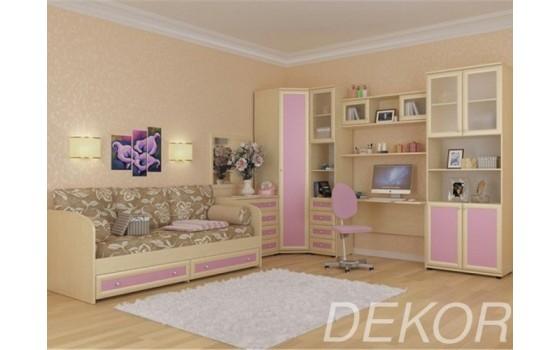 """Набор мебели для детской комнаты с угловым шкафом, письменным столом и антресолью """"Комплект-3"""""""