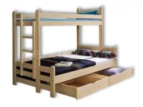 """Кровать детская  2-х ярусная  из натурального дерева """"Бенджамин"""" с ящиками (в)"""