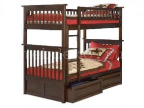 """Кровать детская  2-х ярусная  из натурального дерева """"Бастион-2"""" с ящиками (в)"""