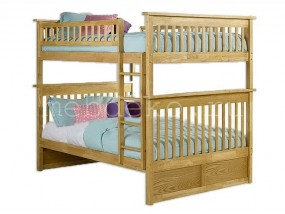 """Кровать детская  2-х ярусная из натурального дерева """"Бастион"""" (в)"""