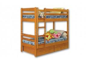 """2-х ярусная кровать из натурального дерева """"Детская №1"""" с ящиками"""