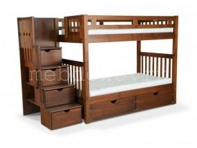 """Детская  2-х ярусная кровать из натурального дерева """"Марк"""" с ящиками (в)"""