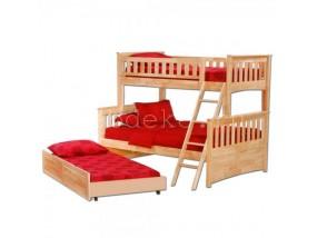 """Детская  2-х ярусная кровать из натурального дерева """"Модерн-3"""" с выкатным спальным местом (в)"""