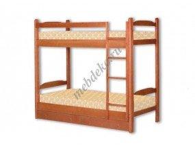"""Детская  2-х ярусная кровать из натурального дерева """"Антошка"""""""