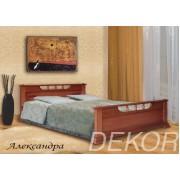 """Кровать из массива дерева с двумя спинками  """"Александра"""""""