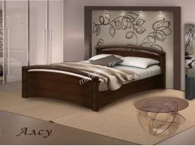 """Кровать из массива натурального дерева с двумя закругленными спинками """"Алсу"""""""