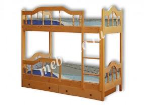 Детская 2-х ярусная кровать Диана-3 с ящиками (в)