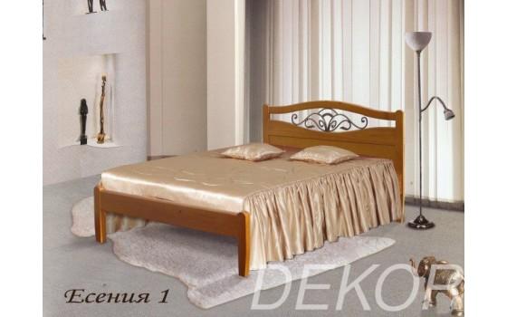 """Кровать из массива со спинкой с ковкой """"Есения-1"""""""