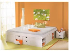 Кровать из натурального дерева Ева-5