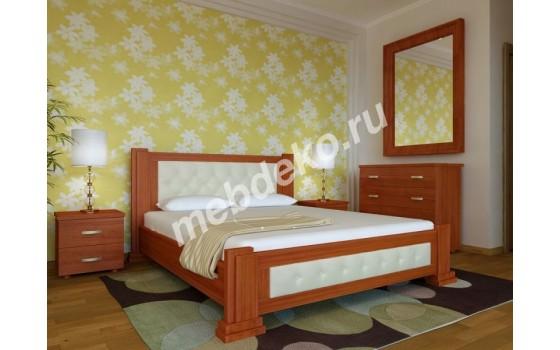 """Кровать """"Фиеста"""" с декором из кожи"""