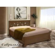 """Кровать из  дерева с красивой резной спинкой """"Габриэлла"""""""